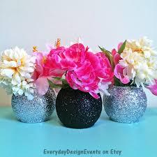Black Centerpiece Vases by Black And Silver Vase Set Bubble Vase Baby Shower Vases