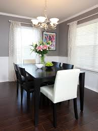 Dining Room Design Images Chair Rail Molding Divides Two Toned Walls In This Neutral Dining