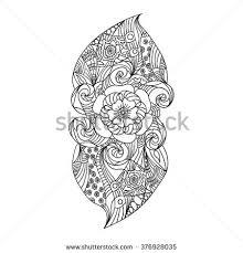 Indian Flower Design Vector Abstract Pattern Tattoo Henna Paisley Stock Vector