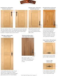 How To Clean Kitchen Cabinet Hardware by Cabinet Door Hardware Placement Guidelines Taylorcraft Cabinet