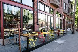 Outdoor Seating by Seattle Outdoor Dining Artusi U2013 Seattle Italian Modern Apertivo Bar