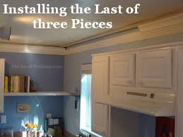 How To Level Kitchen Cabinets Kitchen Crown Molding Installation The Last Piece Goes In The