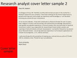 Research Analyst Sample Resume by Research Analyst Cover Letter