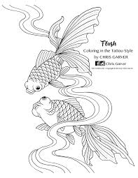 flash coloring in the tattoo style coloring book printables joann