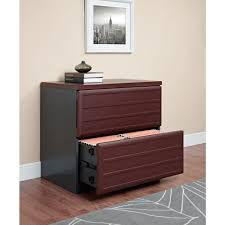 Two Drawer Lateral File Cabinet by Altra Furniture Pursuit Cherry And Gray File Cabinet 9522196 The