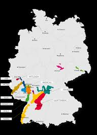 Map Germany by German Wine Regions Map