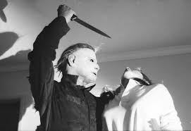 halloween michael myers in background halloween the masks of michael myers horrornchill com