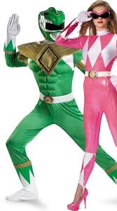 rangers couples costume green and pink power ranger costumes