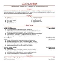 Sample Resume For Senior Manager by Resume Product Manager Sample Resume