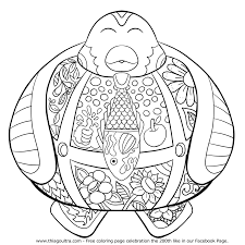 200th like happy penguin commemorative free coloring page