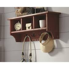 Bathroom Shelf With Hooks Wall Mounted Cabinets Shelves U0026 Shelf Brackets Storage