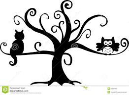 halloween wall art halloween tree clip art halloween night owl and cat in tree