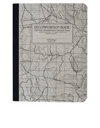 Map Grid Decomposition Notebook Topo Map Grid One Color Large Notebooks