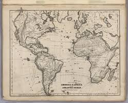 Physical Map Africa by Physical Map Of America U0026 Africa And The Atlantic Ocean David
