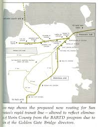 San Francisco Bart Map A Fascinating Look At How The Bart Map Has Changed Over The Years