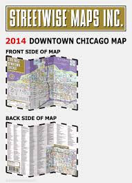 Grant Park Chicago Map by Streetwise Downtown Chicago Map Laminated Street Map Of Downtown