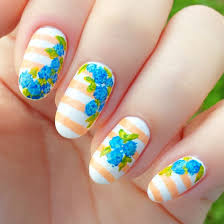 simple flower nail designs ideas and 20 photos