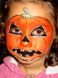 face painting for kids pumpkin halloween face painting design