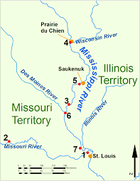 Map Of Wisconsin And Illinois by Illinois Territory In The War Of 1812 Wikipedia