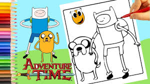 the adventure time jake and finn coloring book page cartoon