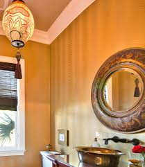 decorating living room walls with mirrors powder room traditional