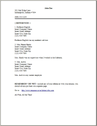 Examples Of References On A Resume  example of reference reference