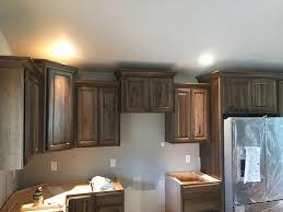 Crown Moulding Kitchen Cabinets Dark Stain Hickory Cabinets With Crown Moulding Kitchen Remodels