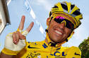 Spain's Alberto Contador was declared overall winner of the Tour de France ... - CONTADOR_432