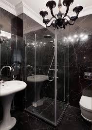 Posh Interiors Black Marble Bath Interior Design Ideas