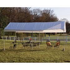 Canopy Carports Shelterlogic 10 X 20 Ft Deluxe All Purpose Canopy Carport Hayneedle