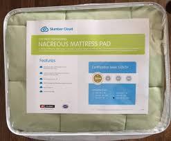 slumber cloud nacreous mattress pad review