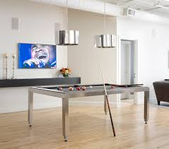 Pool Table In Dining Room by Urban Loft Residence Scandinavian Family Room Chicago By