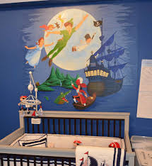25 disney inspired rooms that celebrate color and creativity peter pan wall mural for contemporary nursery design artistry for spaces