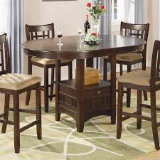 Coaster Lavon Counter Height Dining Table In Warm Brown N - Counter height kitchen table