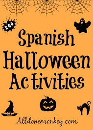 printable halloween worksheets spanish halloween activities all done monkey