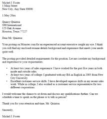 Account Executive Cover Letter Sample Detail