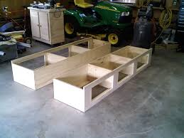 about diy woodworking full size storage bed plans and platform