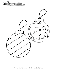 christmas ornaments coloring page printable holiday printables