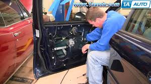 how to install replace power window regulator and motor ford