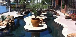 Lazy River Design Portfolio - Backyard river design