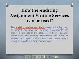 Auditing Assignment Help Online From MyAssignmenthelp com Experts    How the Auditing Assignment