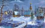 Wallpapers Backgrounds - Village Snow Wallpaper Holiday Christmas Zcom