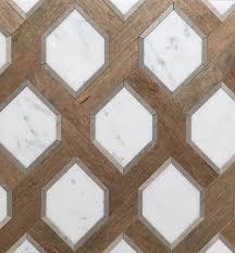 renaissance tile and bath u0027s white marble and nougat wood tile
