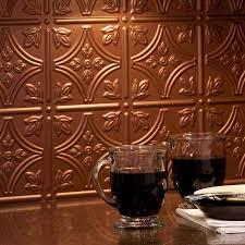 copper backsplash tile great home decor copper tile backsplash