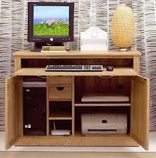 Solid Oak Office Furniture by Mobel Solid Oak Office Furniture Hideaway Computer Desk And Filing
