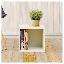 way basics stackable cube storage cubby organizer natural white