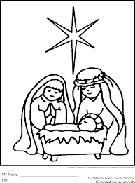 nativity stained glass coloring pages wesharepics nativity