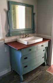 Black Distressed Bathroom Vanity by I Just Repurposed An Old Dresser To Use As A Vanity In Our New