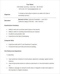 Pipefitter Resume Example by Resume For Internship Template Sample Student Internship Resume