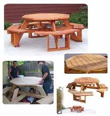Free Wooden Picnic Table Plans by 9 Best Picnic Table Images On Pinterest Octagon Picnic Table